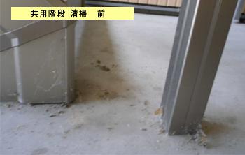 アパート清掃・階段掃除前